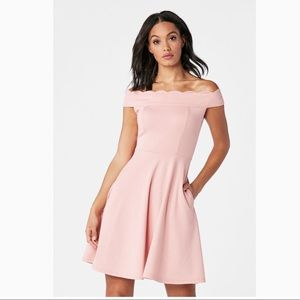 JustFab Scalloped Fit and Flair Dress XL NWT